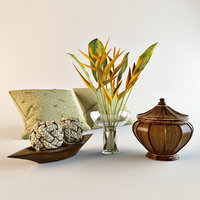 Tropical decorative set