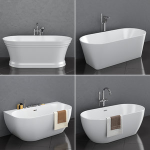 set freestanding baths ravak 3D