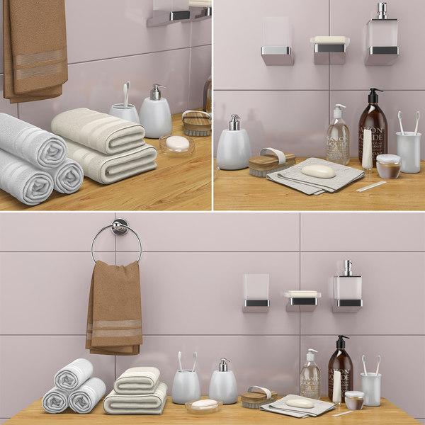 3D decorative bathroom set 36