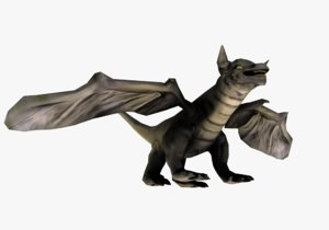 3D medieval dragon model