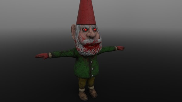 3D scary gnome