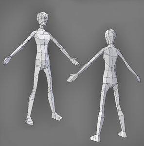 female skinny 3D model