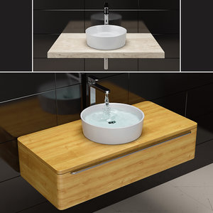 3D model sink ravak uni slim
