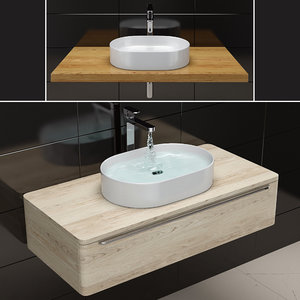 sink ravak ceramic slim 3D