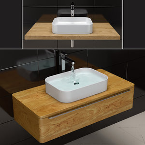 sink ravak ceramic slim 3D model