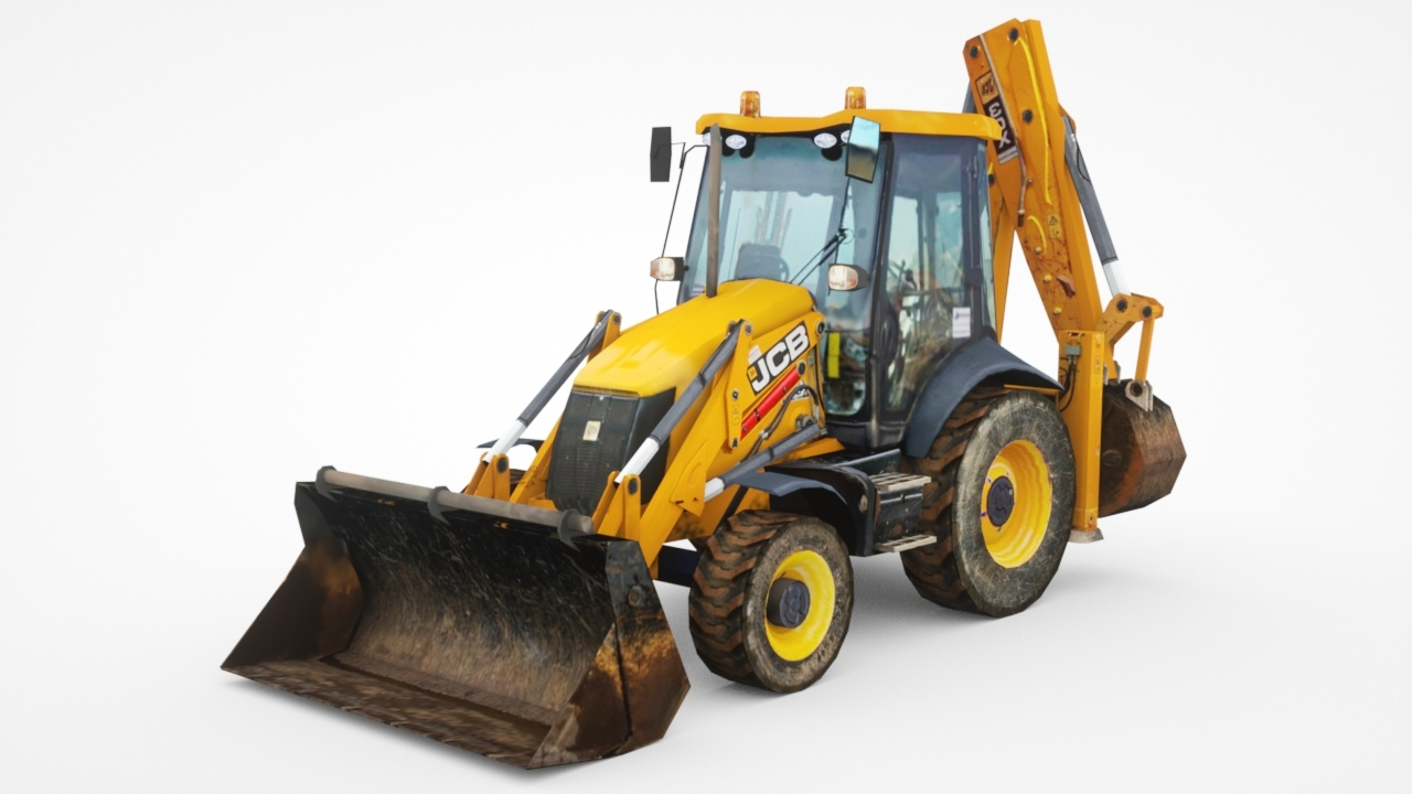 3D 3cx low-poly excavator