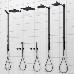 shower systems faucets cea 3D model