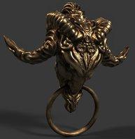 Gothic Fantasy Head Door Knob Game-ready 3D Asset UE4  Prop #5