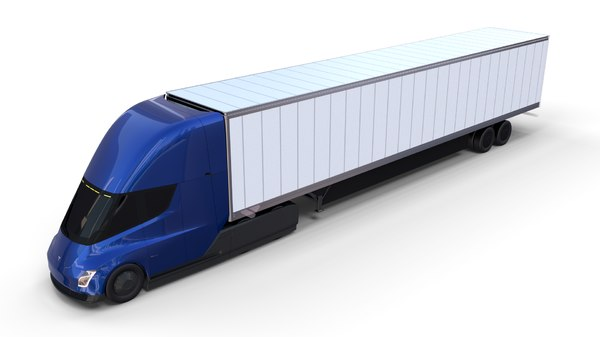 tesla semi truck trailer 3D