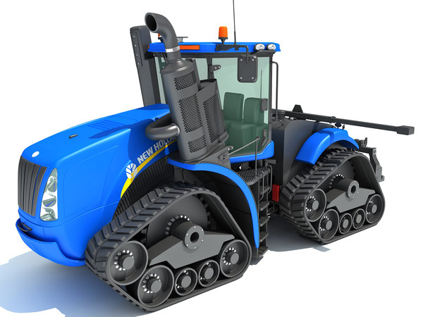 new holland track tractor 3D