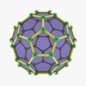 fullerene atoms model