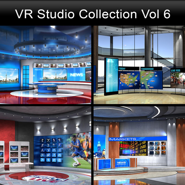news studios collections 3D model