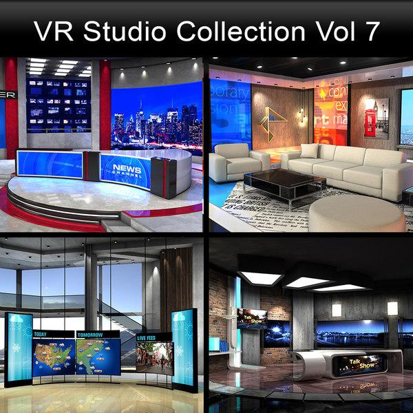 news studios collections 3D model