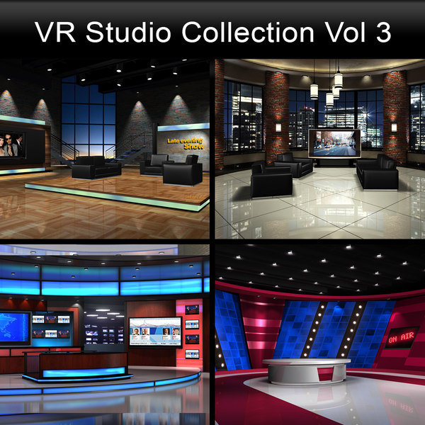 3dsmax tv news studios collections