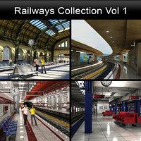 subway station metro train model