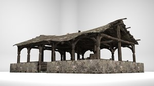 ancient building outdoor 3D model