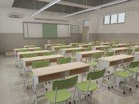 classroom class room 3D model