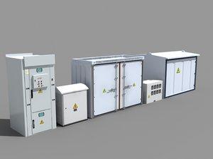 electric boxes 3D model