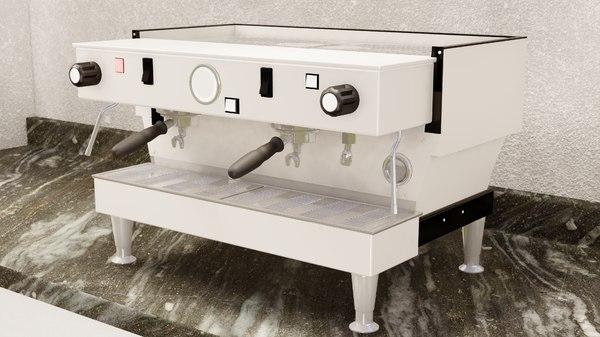 3D espresso machine model