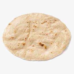 3D model tortilla mexican