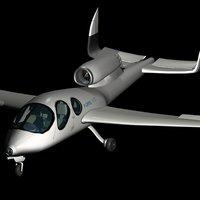 3D composite private jet flaris
