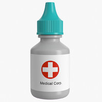 3d medical bottle