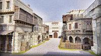 3D model large medieval city