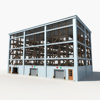 3D model multistory car park