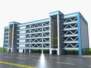 3D building parking garage