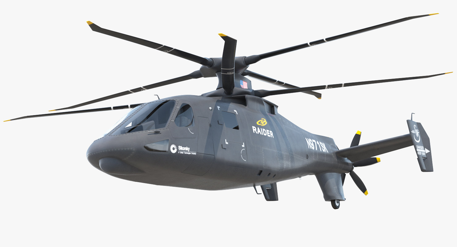 sikorsky s97 raider rigged 3D