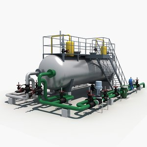 industrial three-phase separator 3D
