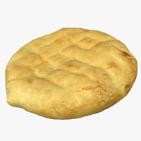 flatbread bread 3D