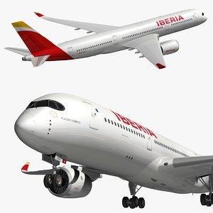 3D model airbus xwb iberia a350