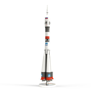 3D soyuz rocket model