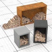 3D log grill