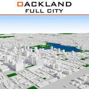 3D oakland cityscape build