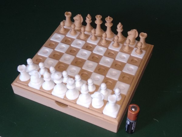 3D travel chess model