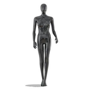 faceless woman mannequin 3D model
