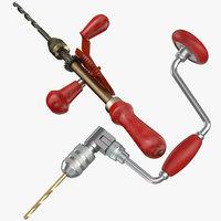 3D model hand drills