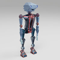 3D robot character toy