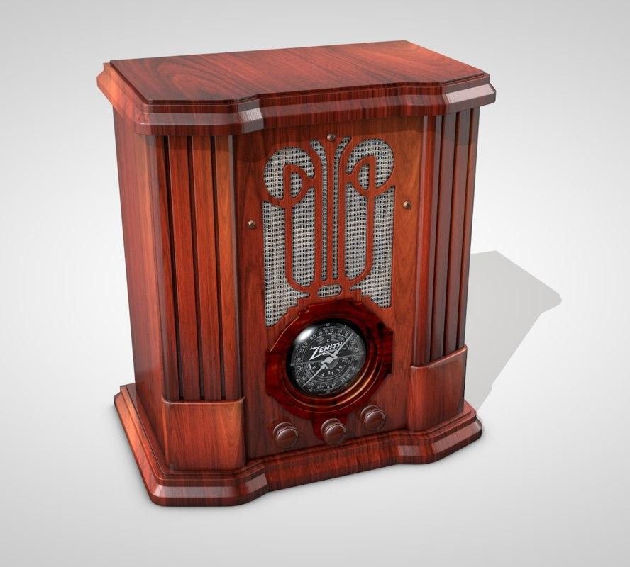 farm retro radio 3D model