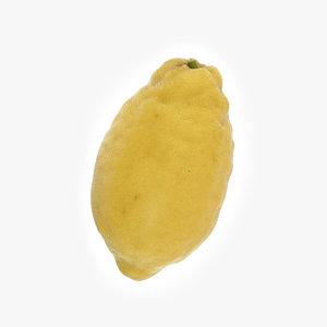 3D lemon amalfi model