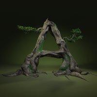 3D tree letter leaves