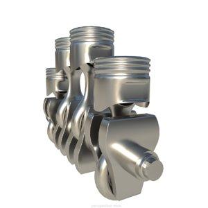 crankshaft crank 3D model