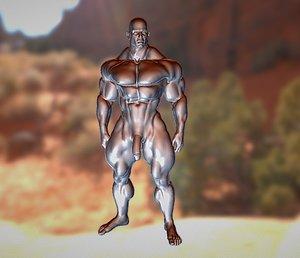 nude bodybuilder 3D model