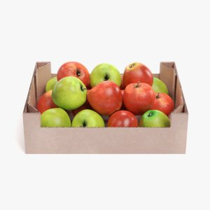 apples box 3D model