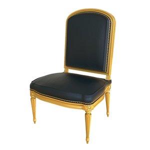 3D chaise la reine model