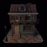 medieval blacksmith house 3D