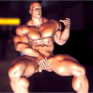 nude muscle man 3D model