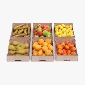 fruit boxes 3D